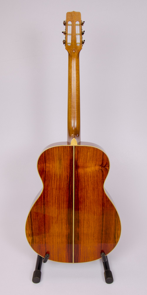 David Dart's 2016 Cocobolo Small Jumbo (SJ) Guitar: Sitka spruce top, cocobolo back & sides, boxwood binding, hand-cut fingerboard abalone diamond inlay, slotted snake's-head peghead