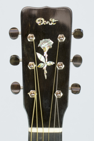 David Dart Rosewood & Spruce 00-14 Rose peghead inlay (abalone & ebony)