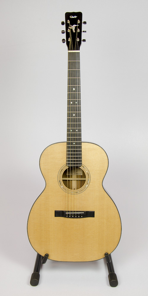 David Dart's 2016 Koa OM-14 Guitar: Sitka spruce top, koa back & sides, ebony binding, hand-cut abalone hummingbird & peghead Dart logo inlay