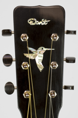 David Dart's 2016 Koa OM-14: Sitka spruce top, koa back & sides, ebony binding, hand-cut abalone hummingbird & peghead inlay