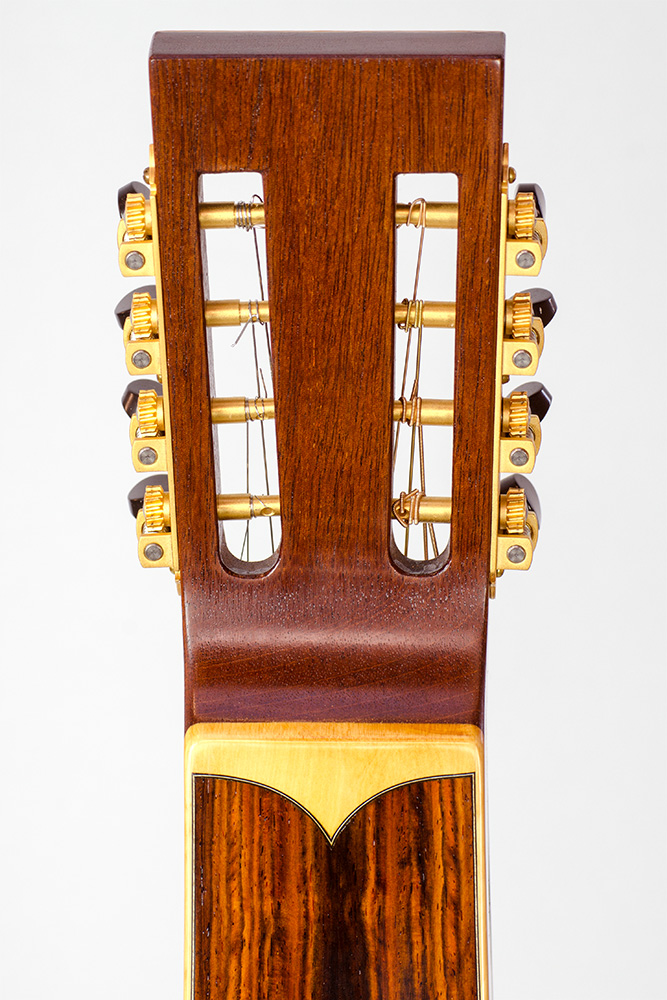 David Dart 8-String Hawaiian Steel Guitar Guitar peghead (mahogany, cocobolo, & boxwood)