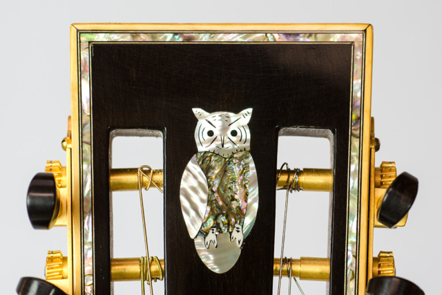 David Dart 8-String Hawaiian Steel Guitar Guitar peghead owl inlay (abalone & mother-of-pearl)