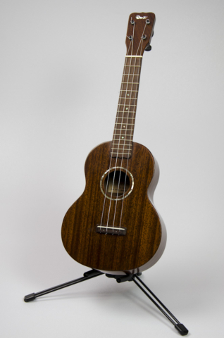 David Dart Jarrah Concert Ukulele, Style 1 (2014): jarrah top, back, sides & neck; rosewood fingerboard & bridge; abalone Dart logo (hand-cut), soundhole inlay (hand-cut), & fingerboard dots