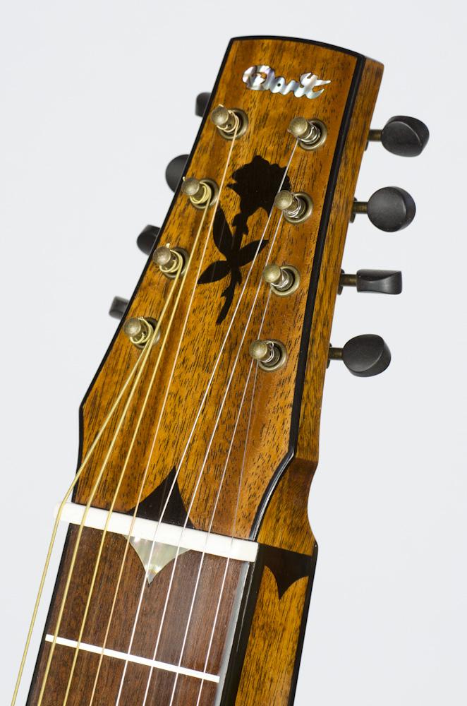 David Dart 8-String Hawaiian Steel Guitar peghead rose inlay (ebony)