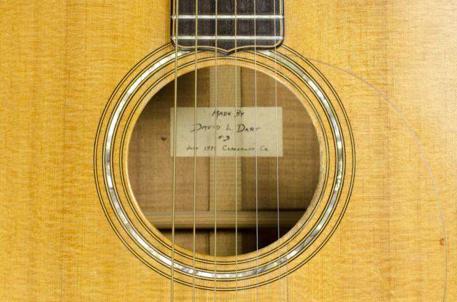 David Dart Koa Steel String Guitar #3, 1979