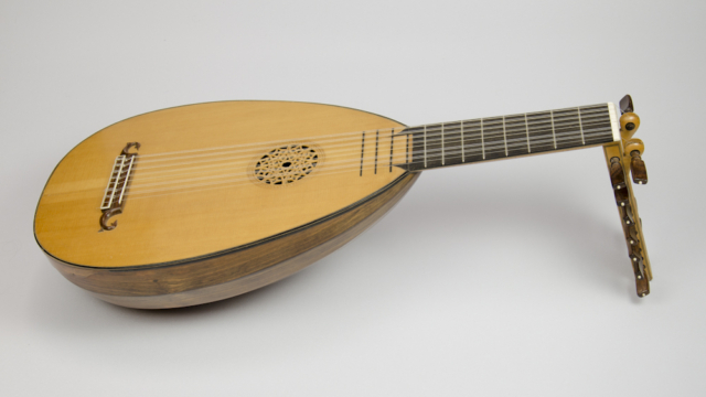 David Dart Eight-course Bass Lute, 1970