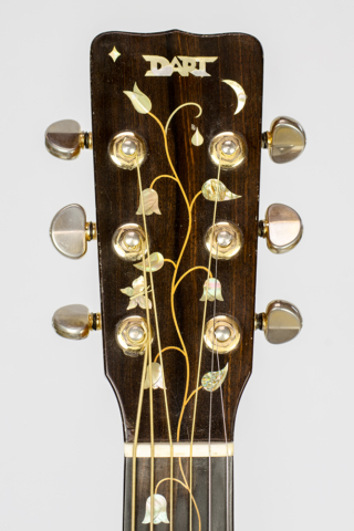 David Dart Tree of Life peghead inlay, from a Bi-Level Guitar