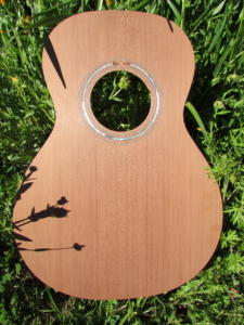 "April 2019 - redwood ""0""-size parlor guitar top top"